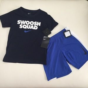 Nike Boy Outfit Shorts Top Set
